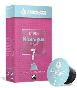 Gourmesso Nicaragua Mezzo - niet te sterk, niet te slap - premium koffie cup voor zeer aantrekkelijke prijs!