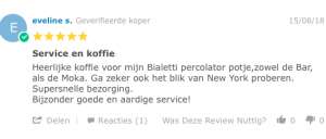 review over de 250 gram mokamaling van Caffè New York